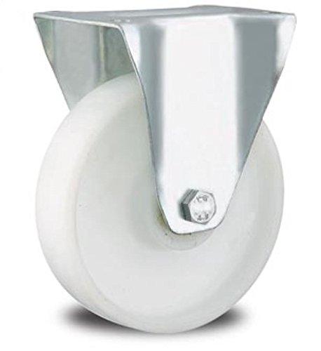 Rolle Bockrolle 200mm Lenkrolle Transportrolle Laufrolle weiß Kunststoff Plastikrolle (Bockrolle 200 mm)
