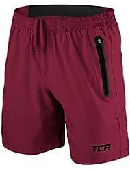 TCA Elite Tech Herren Trainingsshorts für Laufsport mit Reißverschlusstaschen