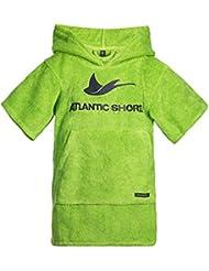 Atlantic Shore | Surf Poncho (Unisex) ➤ Peignoir / Déshabillé de cotton de haute qualité ➤ Kids / Enfants ➤ Vert - Short