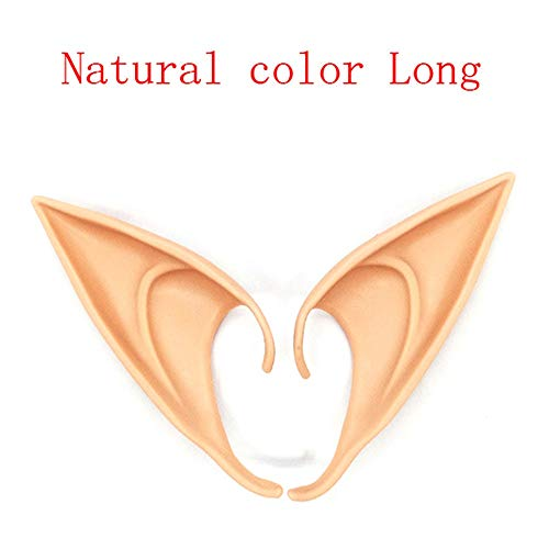 XPFF 3 Pairs Latex Elf Ear Pixie Dress Up Kostüm Weiche Spitz Goblin Ohren Weihnachtsfeier Cosplay Zubehör Halloween Party Requisiten (Color : C, Size : 3PCS) (Elf Auf Dem Regal Kostüm Kinder)