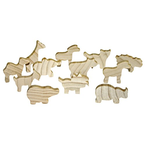 Sunnysue Holzfiguren Tiere 12er Set