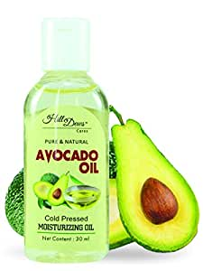 HillDews Avocado Oil 30 ml - Cold Pressed - For Skin & Hair