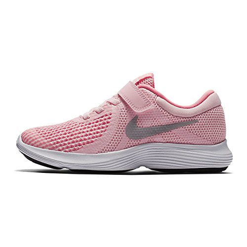 Nike revolution 4 scarpe da corsa unisex bambini, rosa (arctic punch/metallic silver 600), 30 eu
