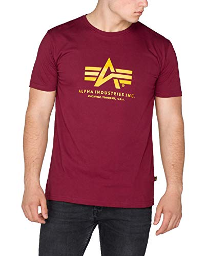 Alpha Industries Basic T-Shirt Grün/Weiß M -