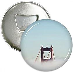 brouillard pont du Golden Gate baie Cloud ronde Décapsuleur Aimant de réfrigérateur broches badge Bouton Cadeau 3pcs