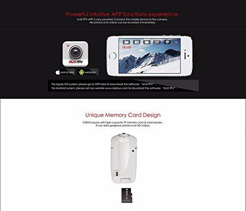 s-idee 01522 Wifi HD Kamera C4010 mit Tonaufzeichnung für Drohnen MJX X400 / X500 / X600 / X800 / X101 / T10 / T55 / T57 / T04 - 2