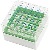 La forma cuadrada de plástico verde claro 25 ranuras de la caja de almacenaje criovial
