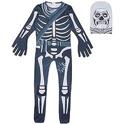 Megacos Halloween Skull Trooper Cosplay Disfraz Niños 150