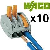 Wago - Conectores 222-413 - 10x Bloque de Conexión con 3 Puertos con Palancas