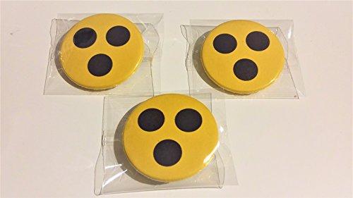 3-STUCK Blindenzeichen Punkte Blind Hilfe Zeichen - sicherheitsnadel