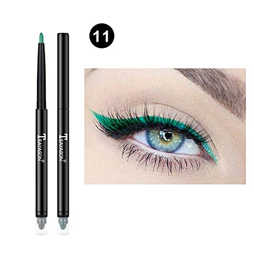 eyeliner farbe, Lidschatten Glitter Liquid Eyeliner ultra-präziser Flüssig-Eyeliner Kajal Eyeliner...