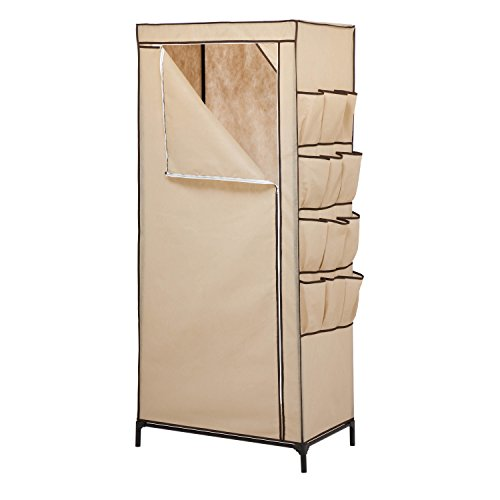 Honey-Can-Do WRD-01270 Storage Closet With Shoe Organizer, 27-Inch