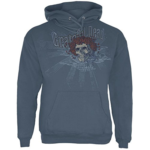 Grateful Dead Herren Kapuzenpullover Blau Blau Medium (Punk-band-retro-rock-shirt)