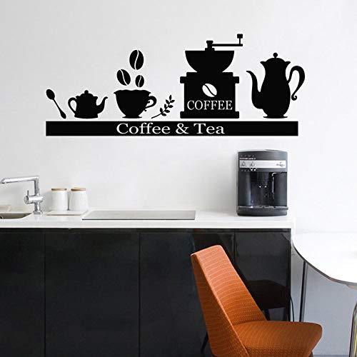 CJJCJJ Wandaufkleber Wandaufkleber Kaffeemaschine Kaffeemaschine Teebecherhalter Regal Küche Wohnzimmer Dekoration