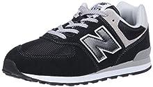 New Balance 574, Scarpe da Ginnastica Unisex-Bambini, Nero (Black/Grey), 40 EU