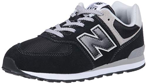 New Balance Pc574v1, Unisex-Kinder Sneaker, Schwarz (Black/grey), 31 EU (12.5 UK)