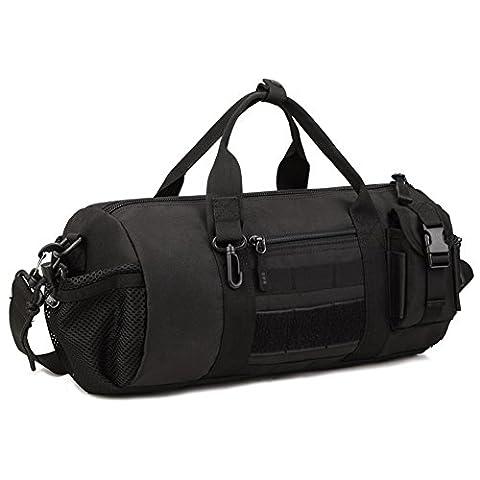 Huntvp Umhängetasche Taktisch Schultertasche Militarische Handtasche Klassische Sporttasche Wasserdicht Handgepäck Multifunktionale Shoulderbag Crossbody Bag für Outdoors Sports Schwarz
