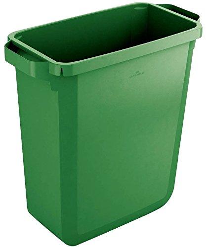 Durable Durabin - Papelera rectangular (60 L), color verde