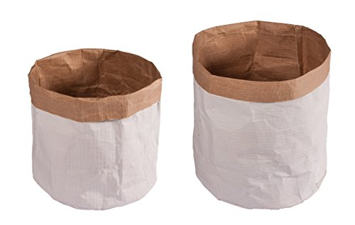 Rayher 46219000 Papiersäcke mit rundem Boden, ø13 x 14cm/ø11 x 10cm, Beutel 2 Stück