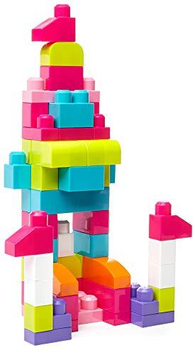 Mega Bloks DCH54 - Bausteinebeutel Medium, 60 Teile, pinkfarben