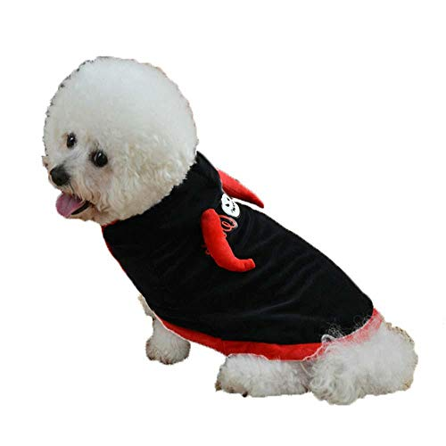 FOONEE Schwarzer Hund Halloween Kostüme: Panik Verklärung Kostüm Hund - Wappenrock Haustier Kostüm (XS/S/M/L/XL) (Wappenrock Kostüm)