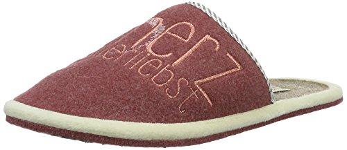 Adelheid - Herzallerliebst Filzpantoffel, Pantofole Donna Pink (altrosa)