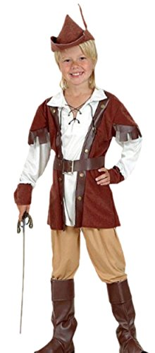 erdbeerloft - Jungen Robin Hood Kostüm, 122, (Jungen Für Kostüm Bogenschießen)