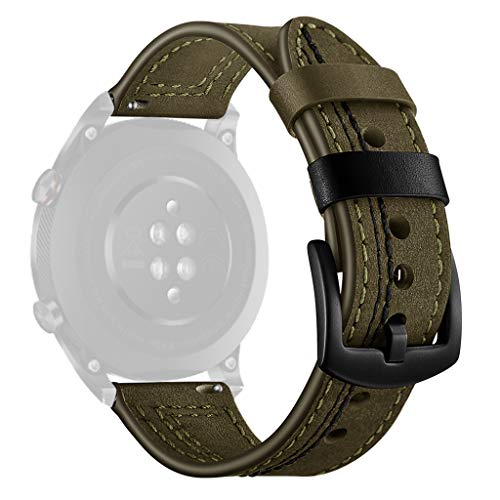 Lazzgirl Mode ersatz Leder uhrenarmband Armband für Huawei Honor Magic 2(Grün)