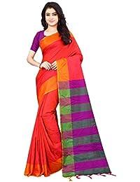 bf95b63631794 Shree Ram Krishna Soft-Silk Plain Saree With Blouse Piece-Red