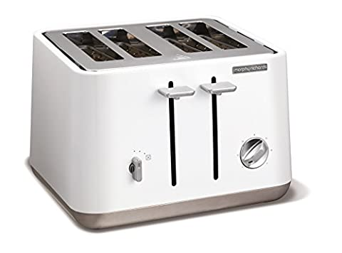 Morphy Richards 240003 Aspect Stainless Steel Four Slice Toaster - White