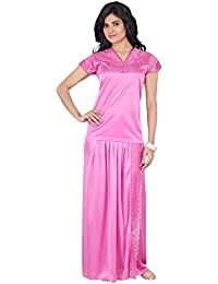 Go Glam Women s Satin Top (ST-2014-104-1PC-PK Pink Free Size d4f8a41eb