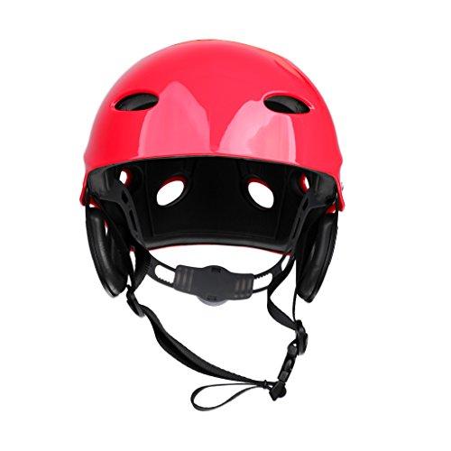 Sharplace Hochwertiger Wassersport-Sturzhelm, Helm für Outdoor-Sport wie Kitesurfing, Kiteboarding, Wasserrettung, Jet Ski, Stand-up-Paddeln, Rafting-6Farben, rot -