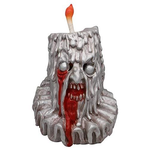 GXDHOME Latex Kopf Maske, Halloween Kerze Mann Schädel Horror Ghost Zombie Kostüm Scary Teufel Bloody Creepy Kostüm