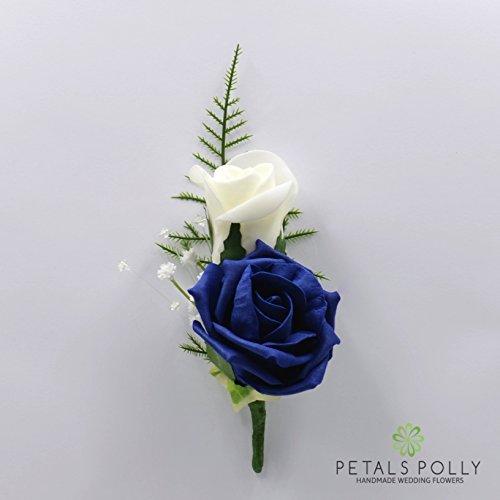 SILK Flowers BLUE Buttonholes: Amazon.co.uk