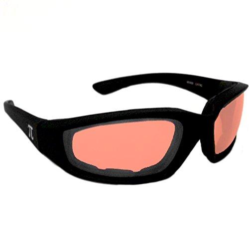 Preisvergleich Produktbild Pi-Wear Miami OR FM Orange getönte,  Winddichte Sonnenbrille mit Polster