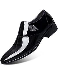 Mens Bloque talón Negocios Zapatos Suela de Goma Antideslizante cómodos Resistente a la abrasión Zapatos Coreanos Glitter