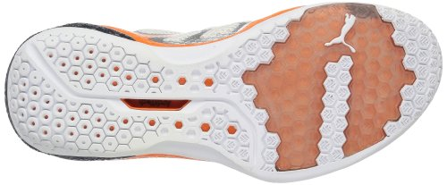 Puma Vindicate 1.2, Chaussures indoor homme Blanc - Weiß (white-vibrant orange-puma silver 02)