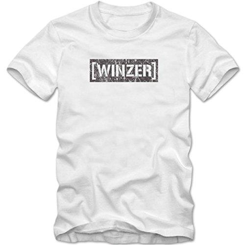 Bester Winzer #1 T-Shirt | Berufe | Follow your dreams | Traumberuf | Herren | Shirt © Shirt Happenz Weiß (White L190)