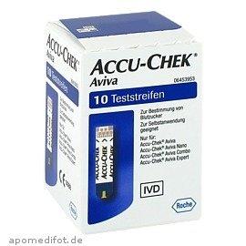 Accu-Chek Aviva Teststreifen Plasma II, 1X10 St