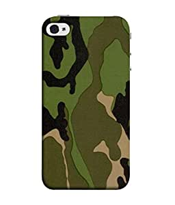 PrintVisa Army Camouflage Pattern 3D Hard Polycarbonate Designer Back Case Cover for Apple iPhone 5