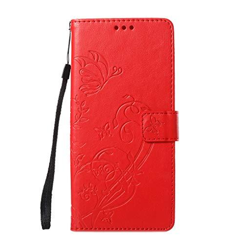Busirde Ersatz für Samsung Galaxy Note 8 N950 Prägedruck-Kasten-Schlag-Mappe PU-Leder-Kasten-Standplatz-Karten-Slot