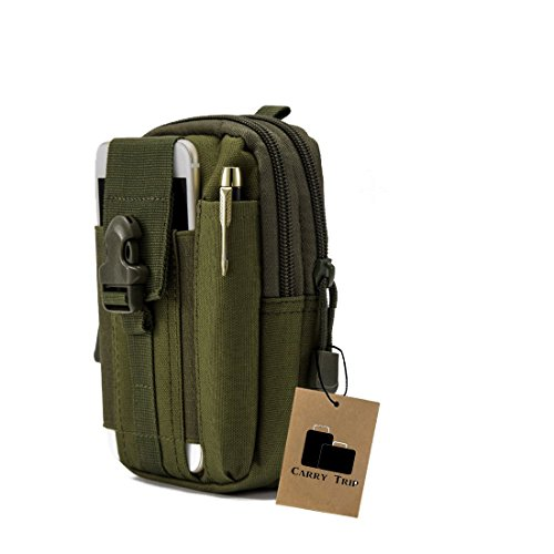 CARRY TRIP Tactical Outdoor Waist Bag Multifunctional Molle Pouch (Military Green)