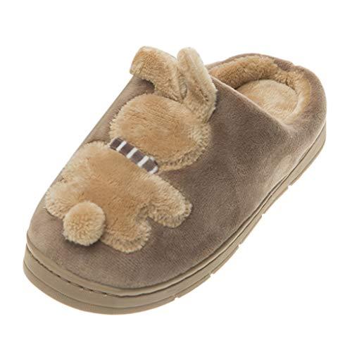 waitFOR Baby Girls Winter Indoor Rabbit Solid Color Slipper Child Boys Girls Warm Cute Fleece Floor Home Shoes Non-slip Sandals Prewalkers First Walking Shoes
