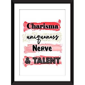 Charisma Uniqueness Nerve and Talent – RuPaul Drag Race Unframed Print/Ungerahmter Druck