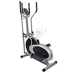 vidaXL Heimtrainer Ergometer FitnessStepper Walking Ellipsentrainer Crosstrainer