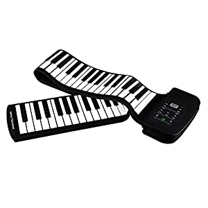 Roll up Piano - Jeasun Portable 88 Keys Roll-Up Piano Soft Silicone Flexible Electronic Digital Music MIDI Keyboard Piano with Battery