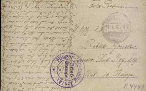 1.Wk Fpak 3 Kartenspielende Flieger m. viol. Fliegerabteilung 254 A
