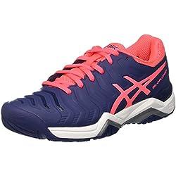 Asics Gel-Challenger 11, Zapatillas de Deporte para Mujer, Azul (Indigo Blue/Diva Pink/Silver), 39.5 EU