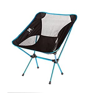 Moon Lence Heavy Duty Camping Chair Folding Beach Chairs with Carry Bag