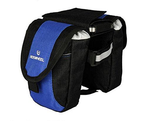 Outdoor-Manager MTB Fahrrad Sattel-Tasche und Handy Tasche Rahmen Fahrradtasche, Vordertasche, Beutel mehrfarbig - blau / schwarz